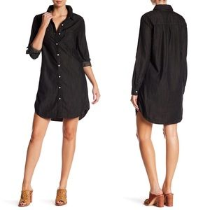 Big Star Harper Black Denim Shirt Dress Small